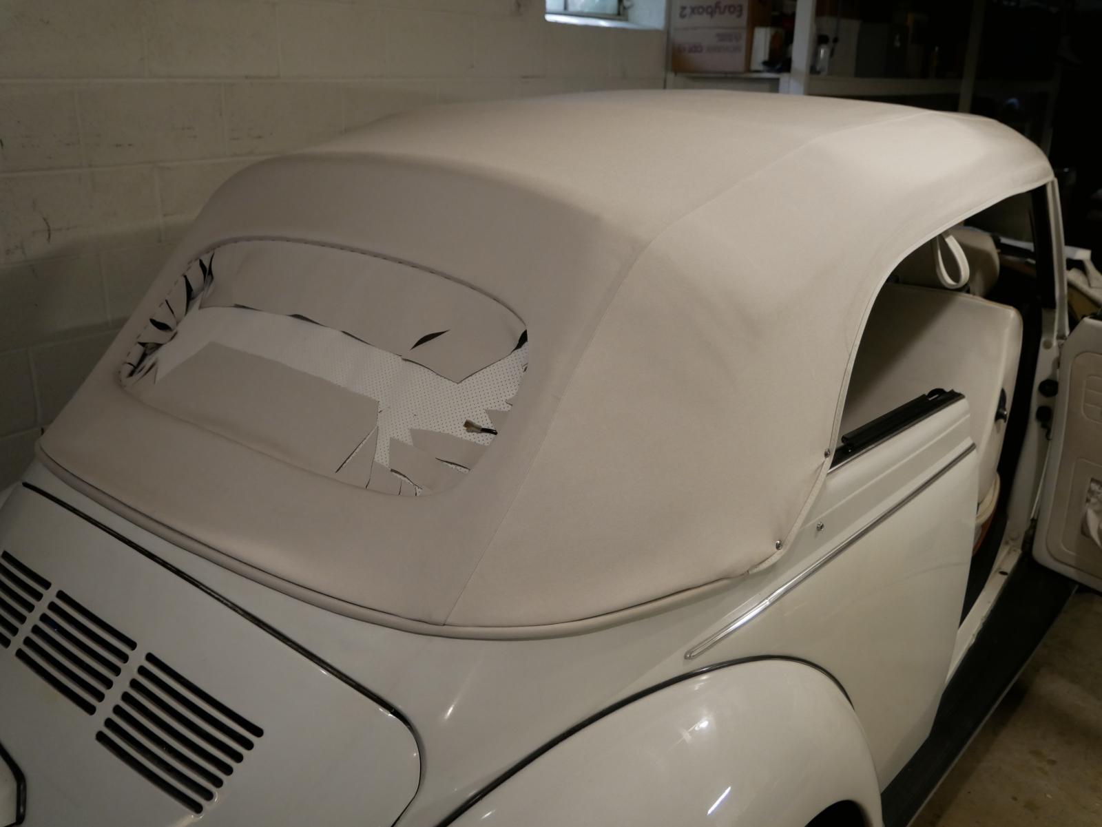 '79 Super Beetle convertible top sans wrinkle