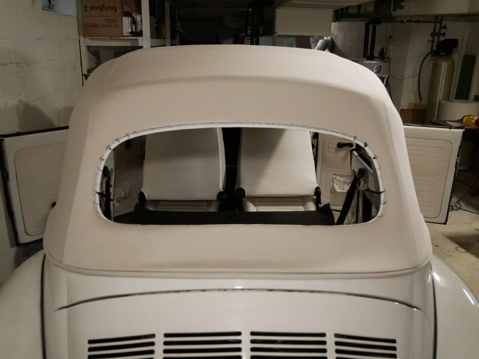 '79 Super Beetle ready for rear window installation