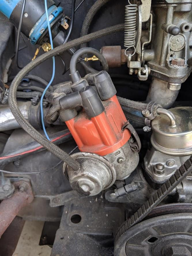 not sure where the wires for the electronic ignition plug ito (1970 Beetle)