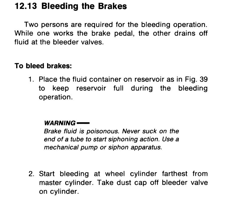 Disc brake Dual Circuit MC bleeding order