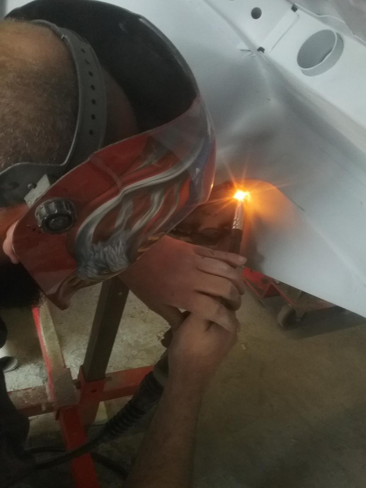 Welding up the body