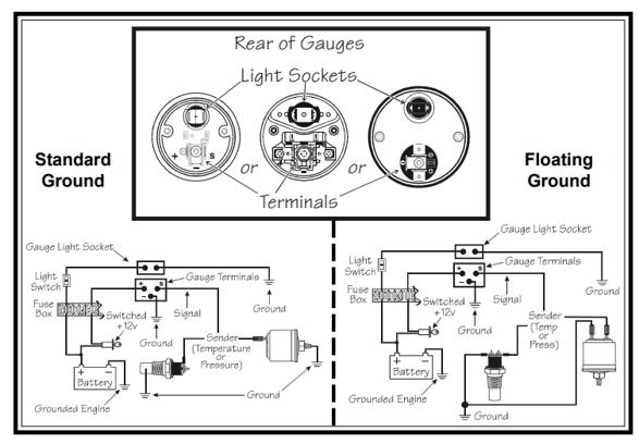 Vdo Pressure Gauge Wiring, Vdo Gauges Wiring Diagrams