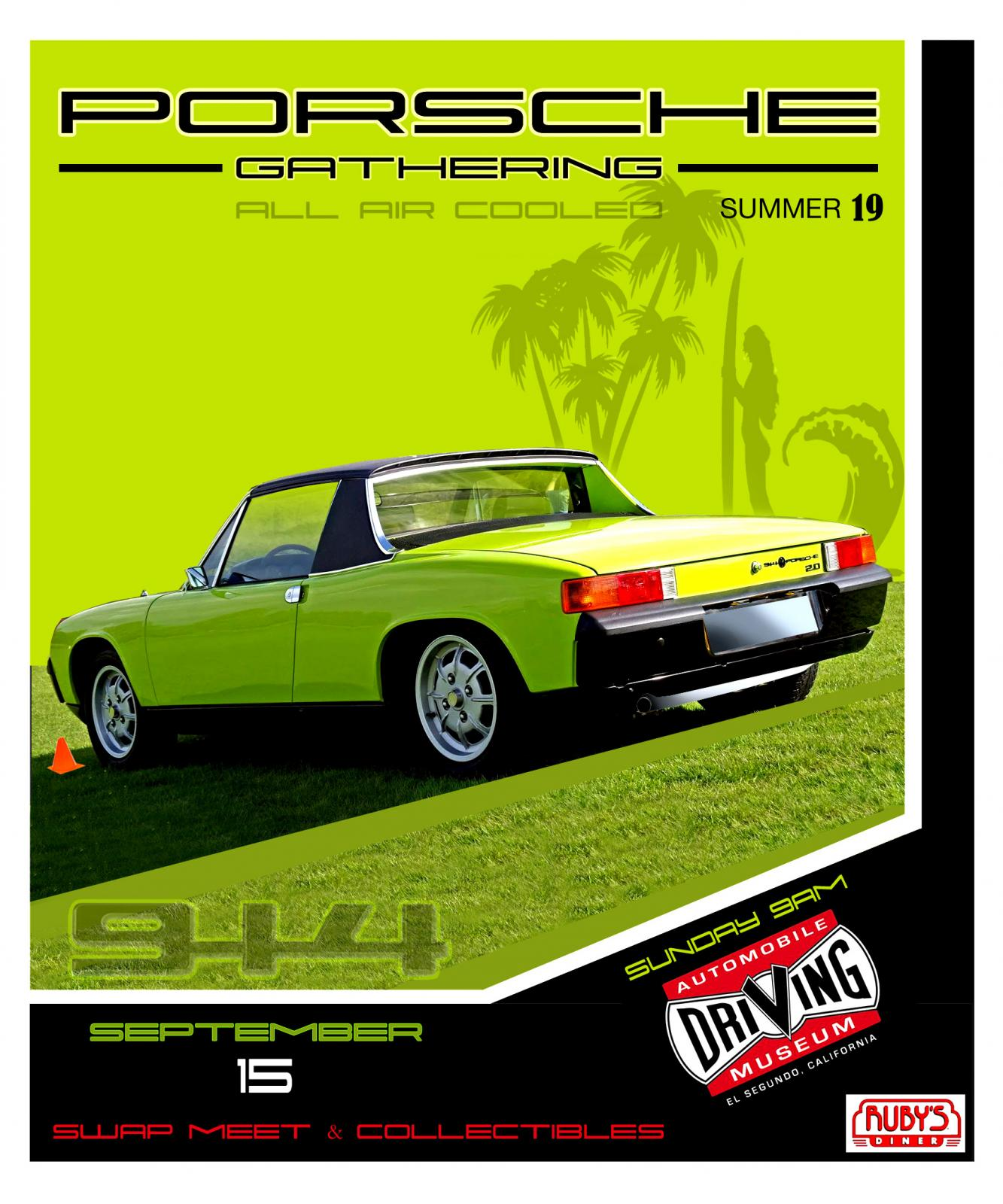 Porsche 914 Show Automobile Driving Museum El Segundo September 15 2019