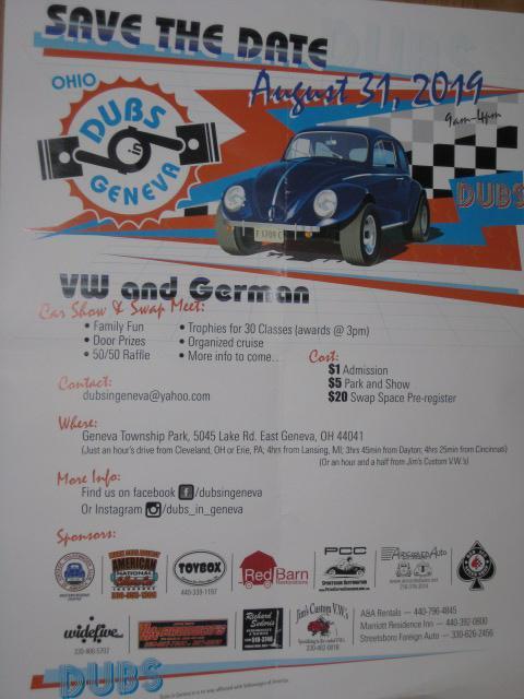 Ohio Dubs in Geneva Show & Swap Flyer