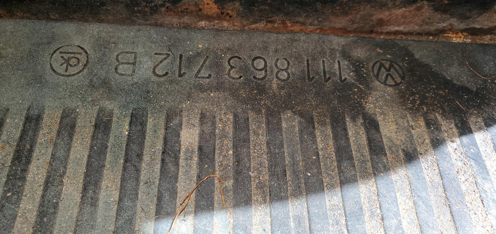 Floor mat numbers