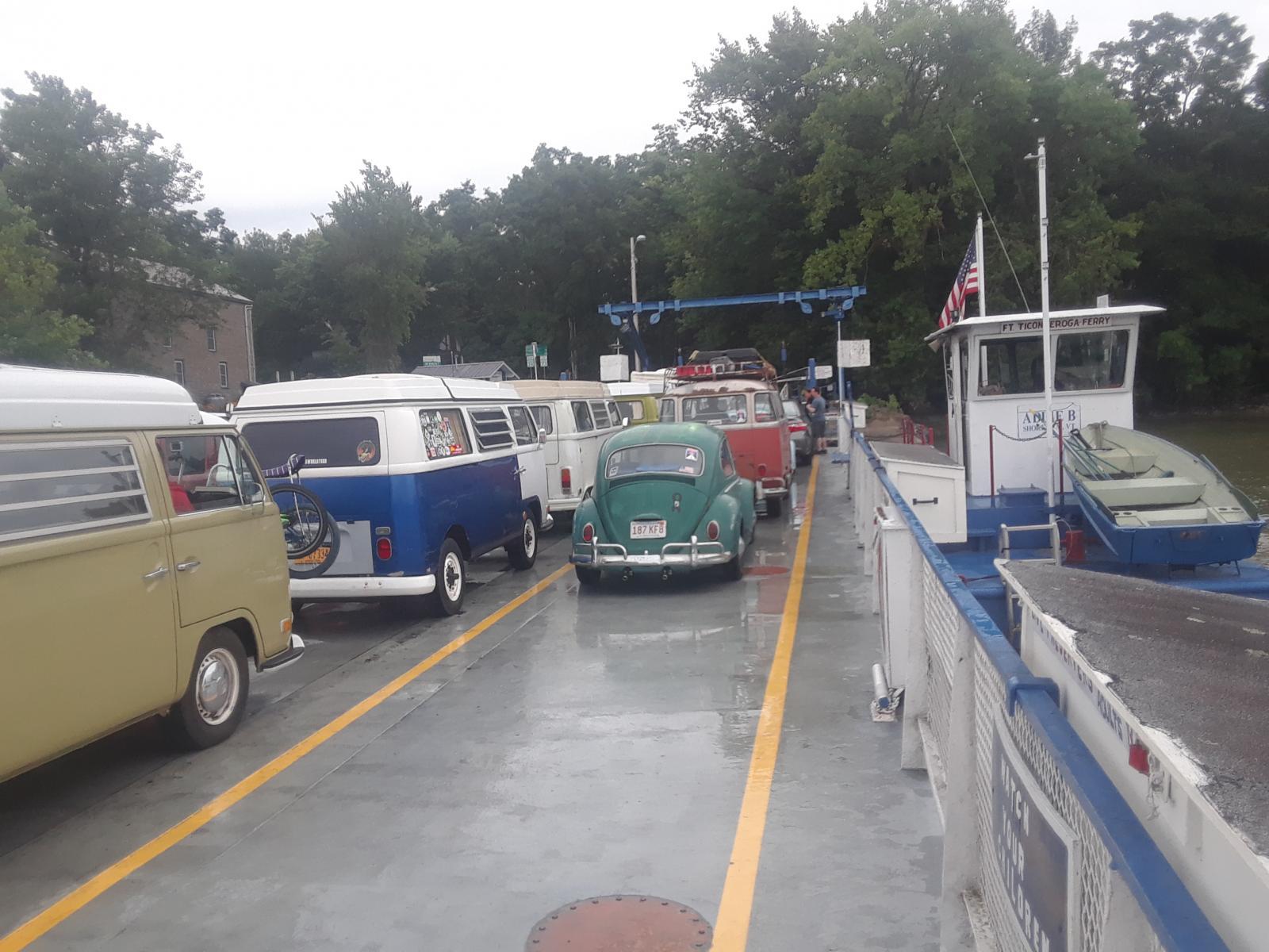 Aircooled Vws on Ticonderoga Ferry August 22, 2019.