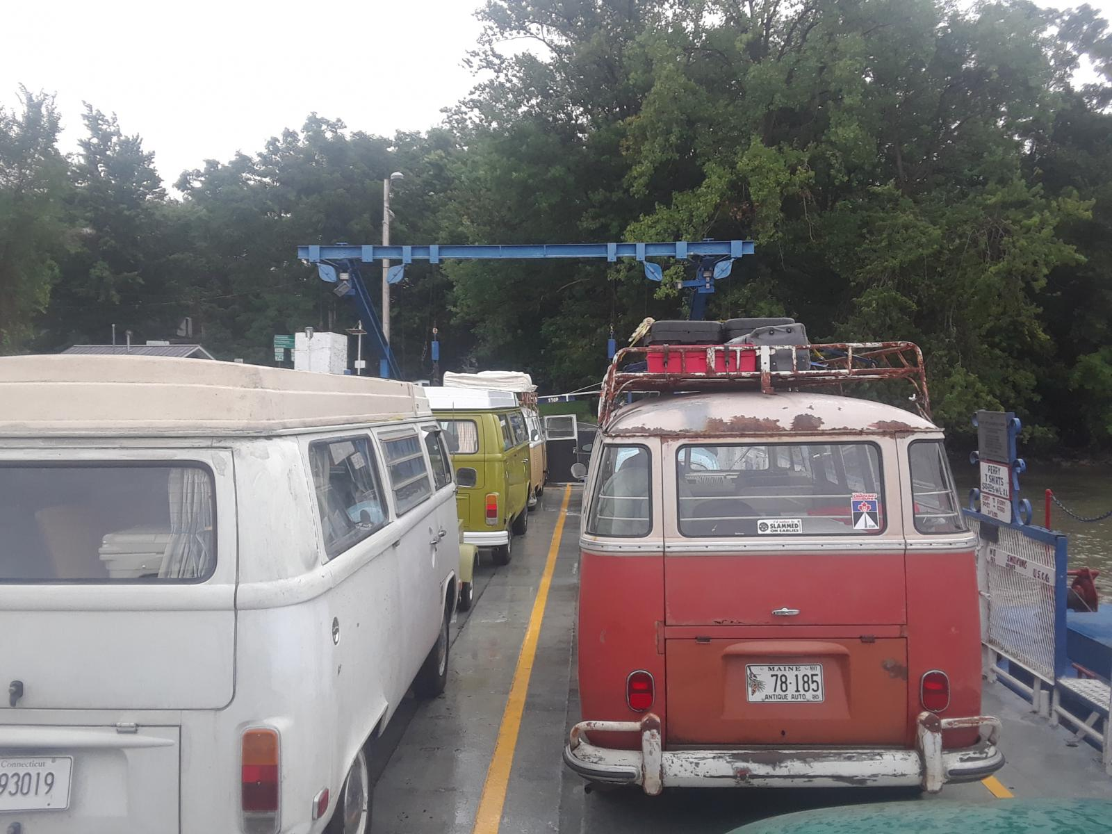 Aircooled Vws on Ticonderoga Ferry August 22, 2019.