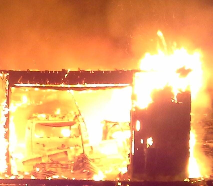 Milt's Garage Fire.