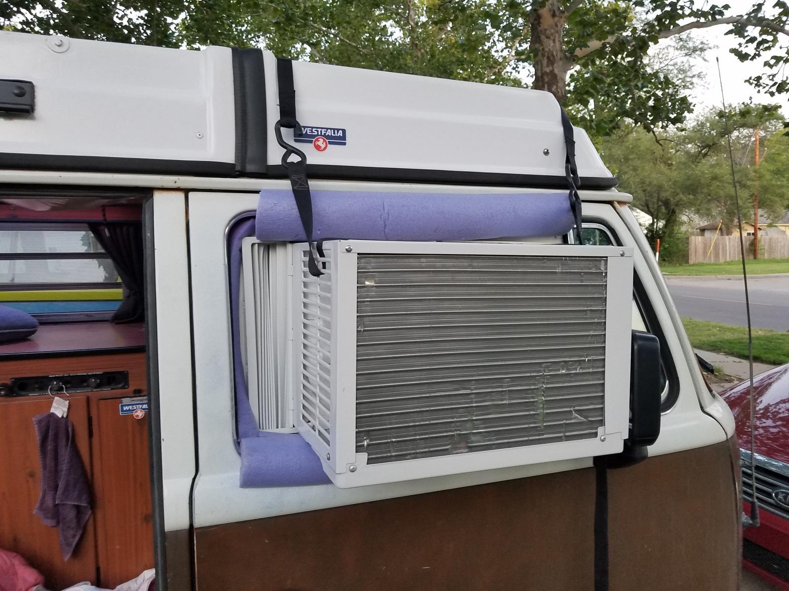 AC in passenger side window