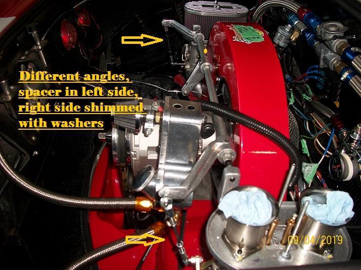 Weber, CB, linkage alignment options