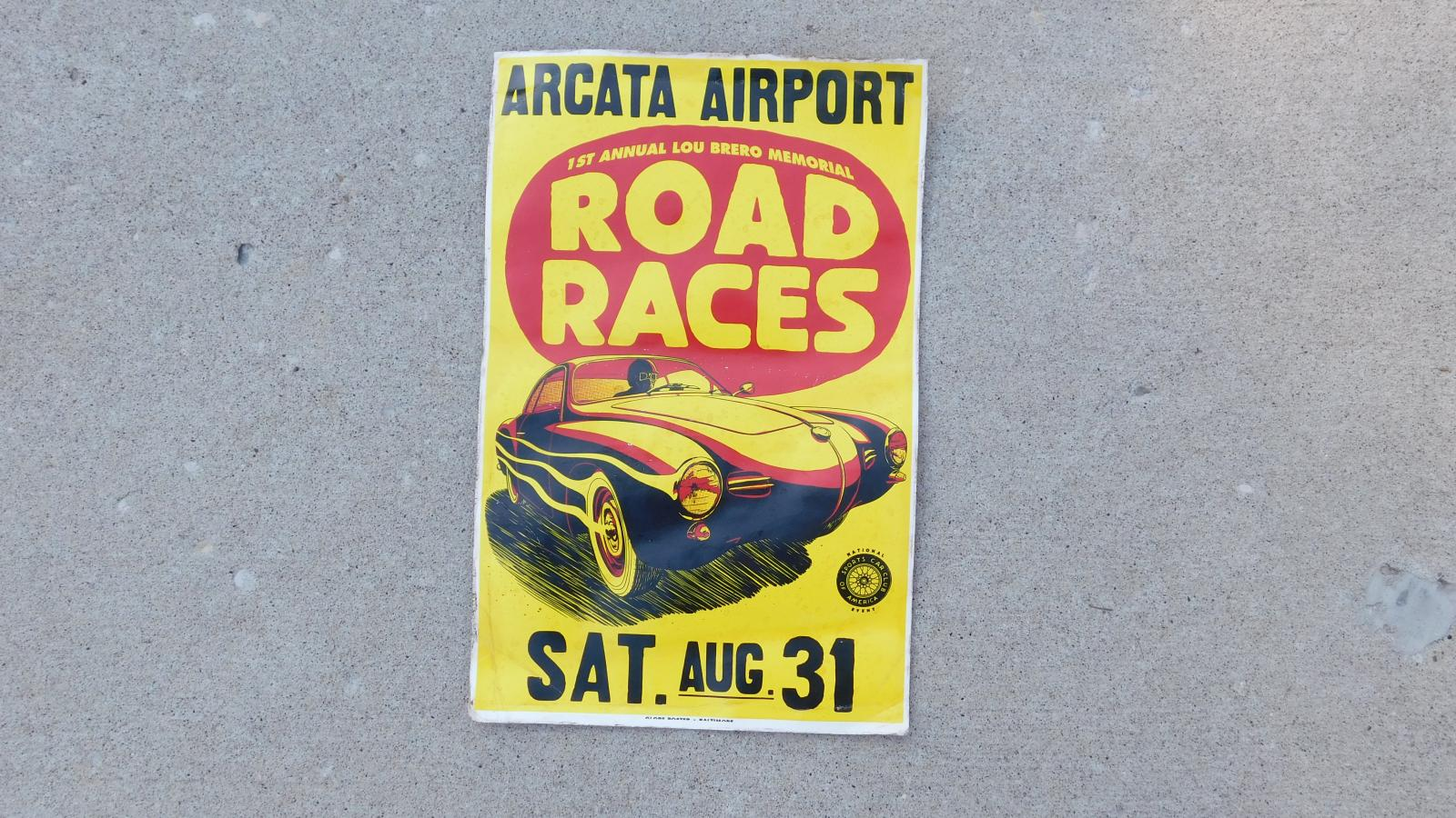 Vintage Low-Light racing poster