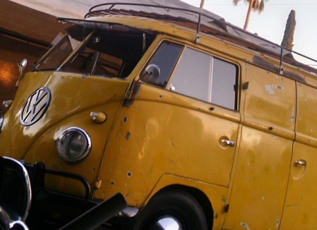 Cy's postal yellow panel.