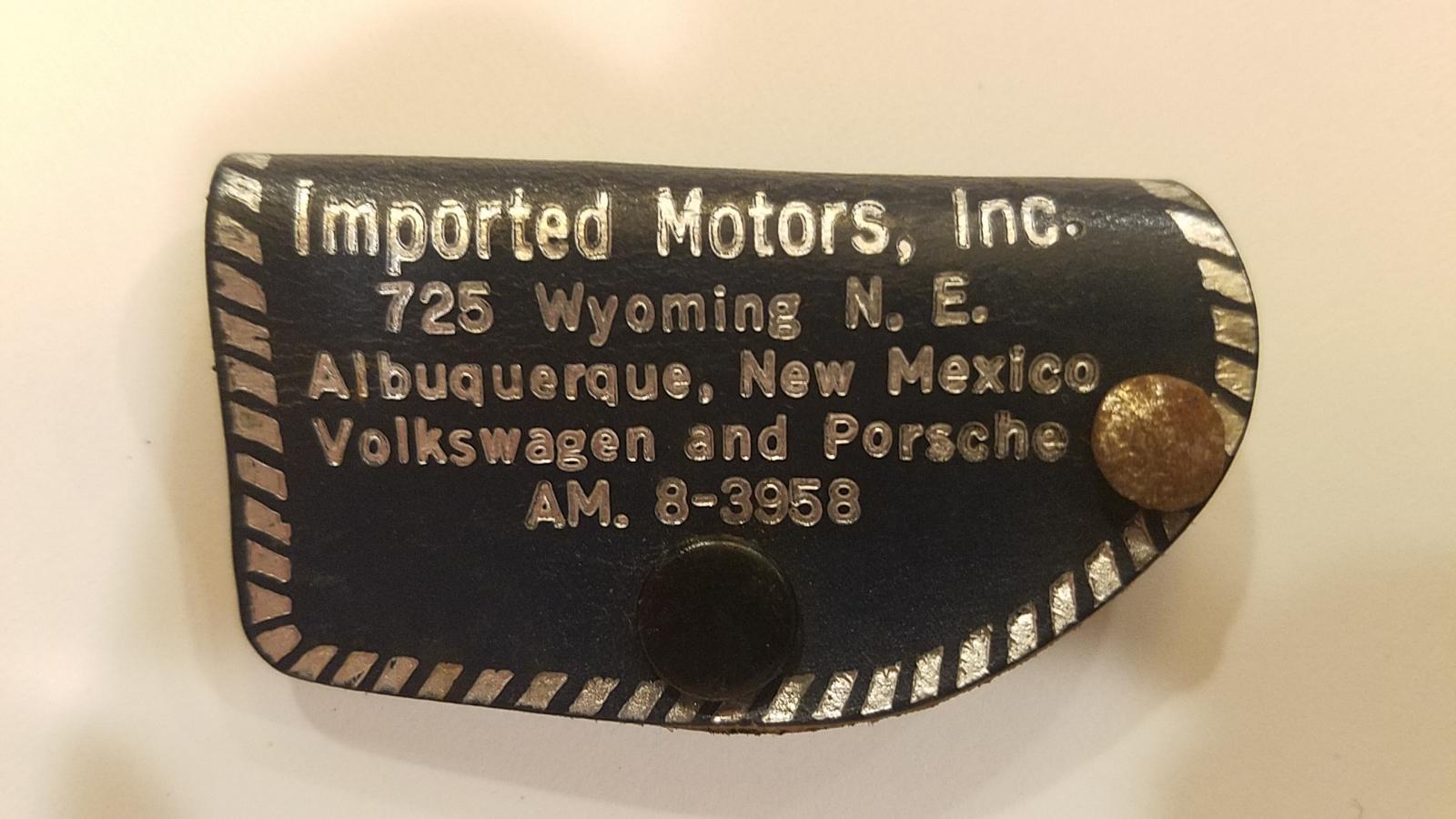 Keychain - Imported Motors, Albuquerque