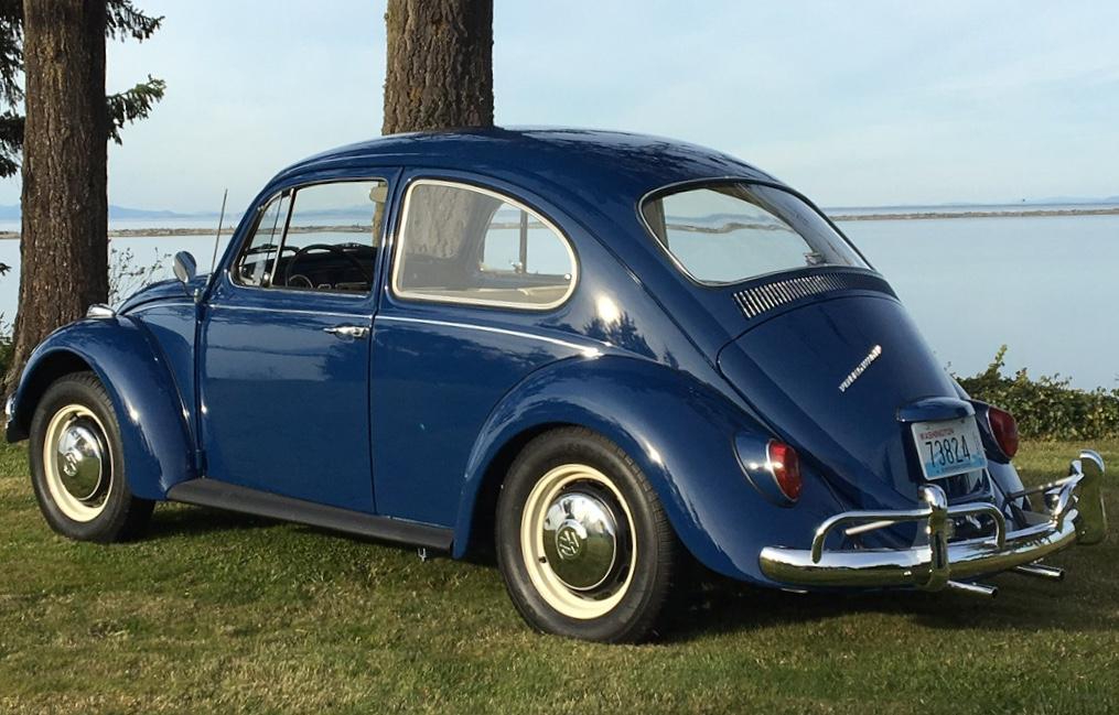 67 blue with cream interior