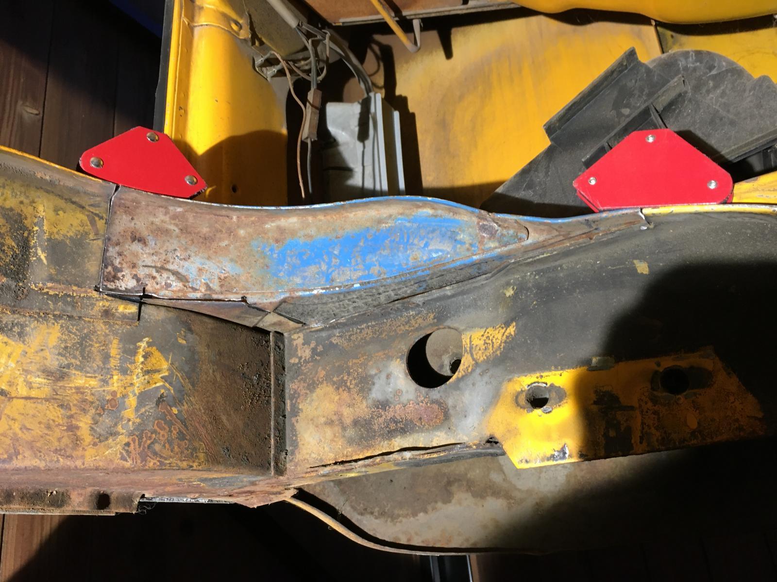 A/C hole repair