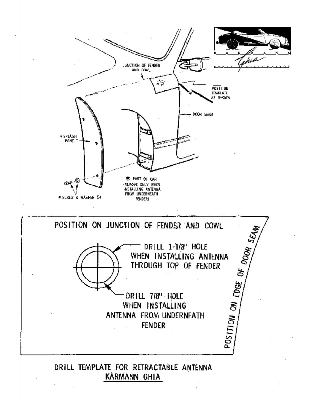KGPR Ghia Antenna Placement Template