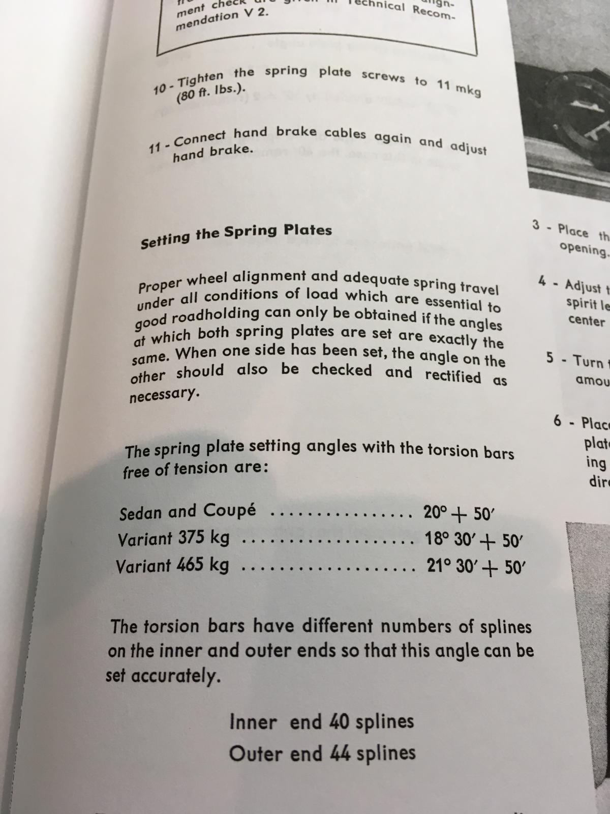 Type 3 Rear Spring Plate Specifications