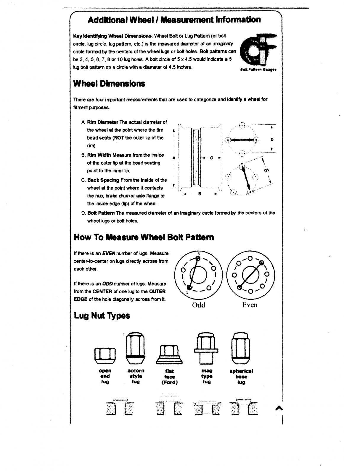 Key Id Wheel Dimensions