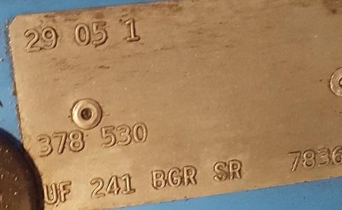 1961 23 window m codes