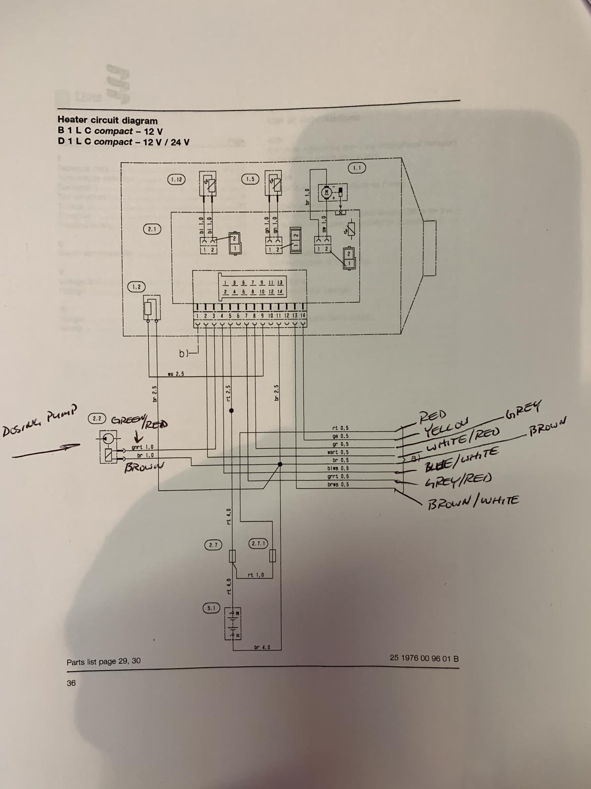 Espar B1LC wiring