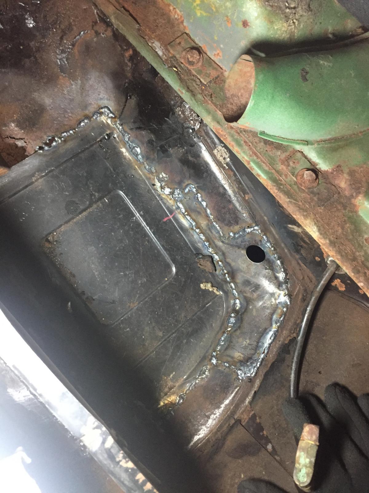 Welding on 1970 floor pans