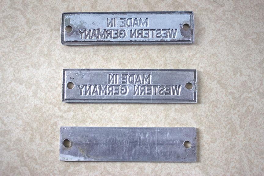 Made In Germany Plates (Tags) 3 Variations