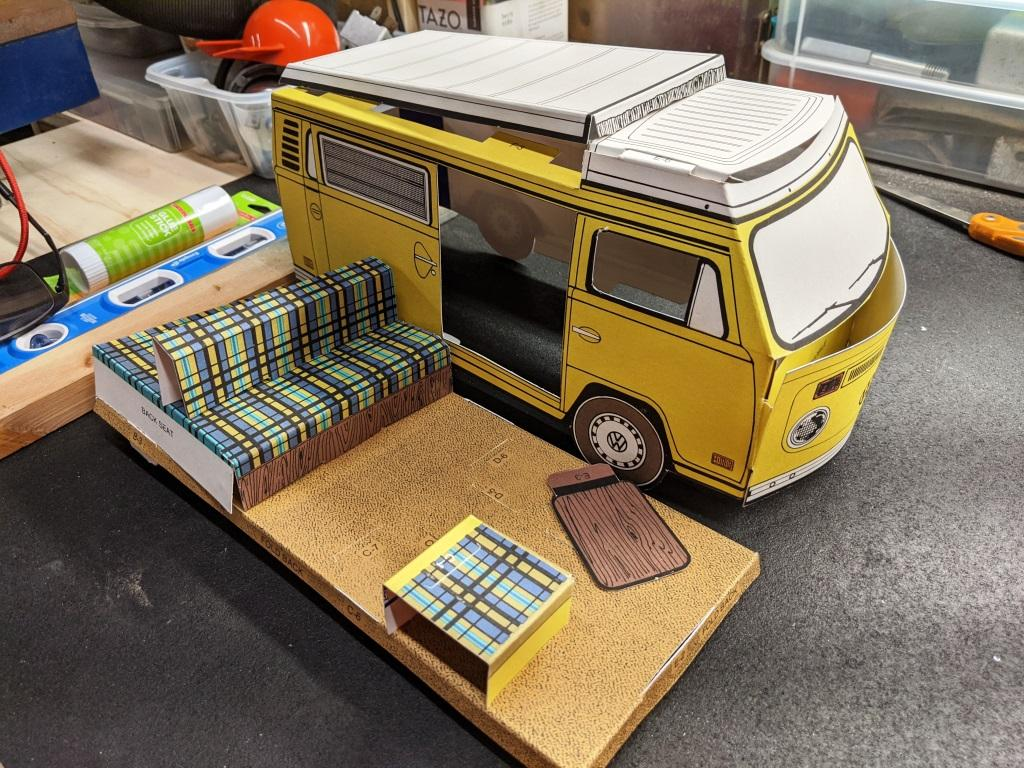 1974 Westfalia Campmobile Paper Model