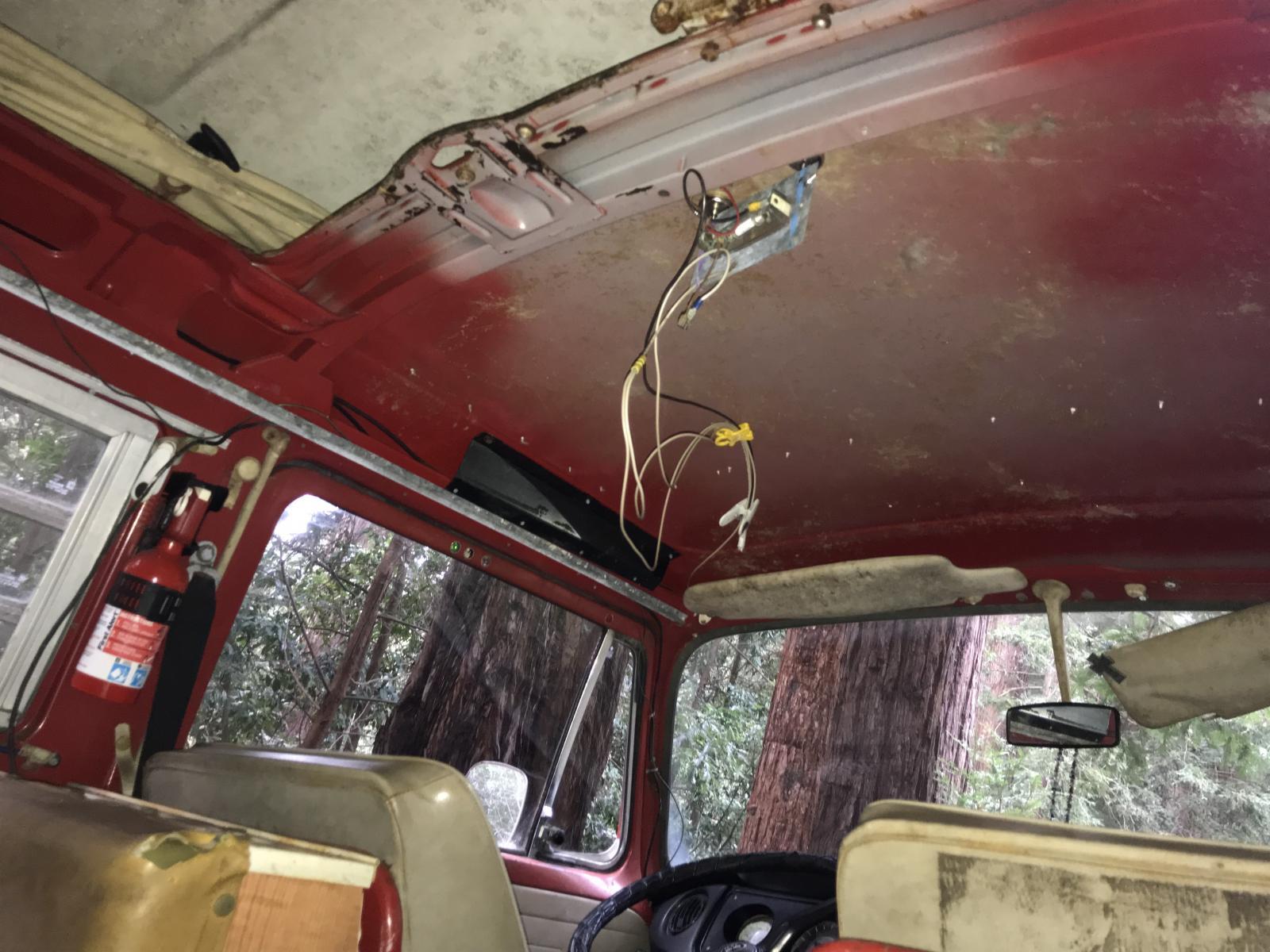 1969 wooden headliner bay window bus west