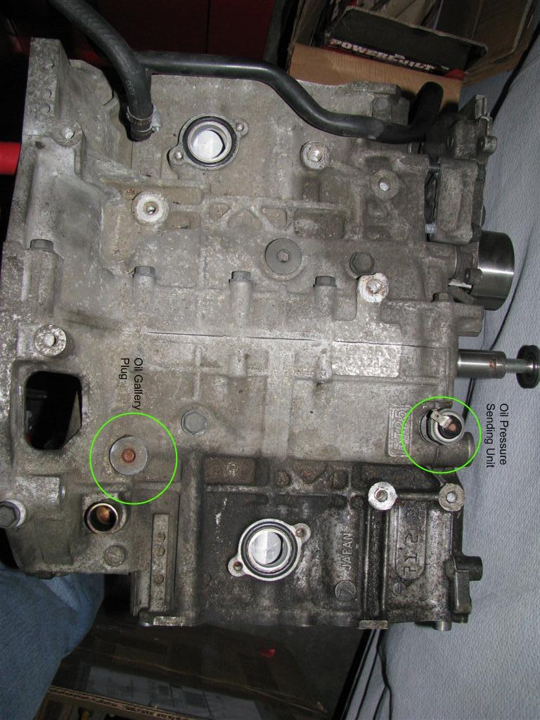 subaru oil plug hole