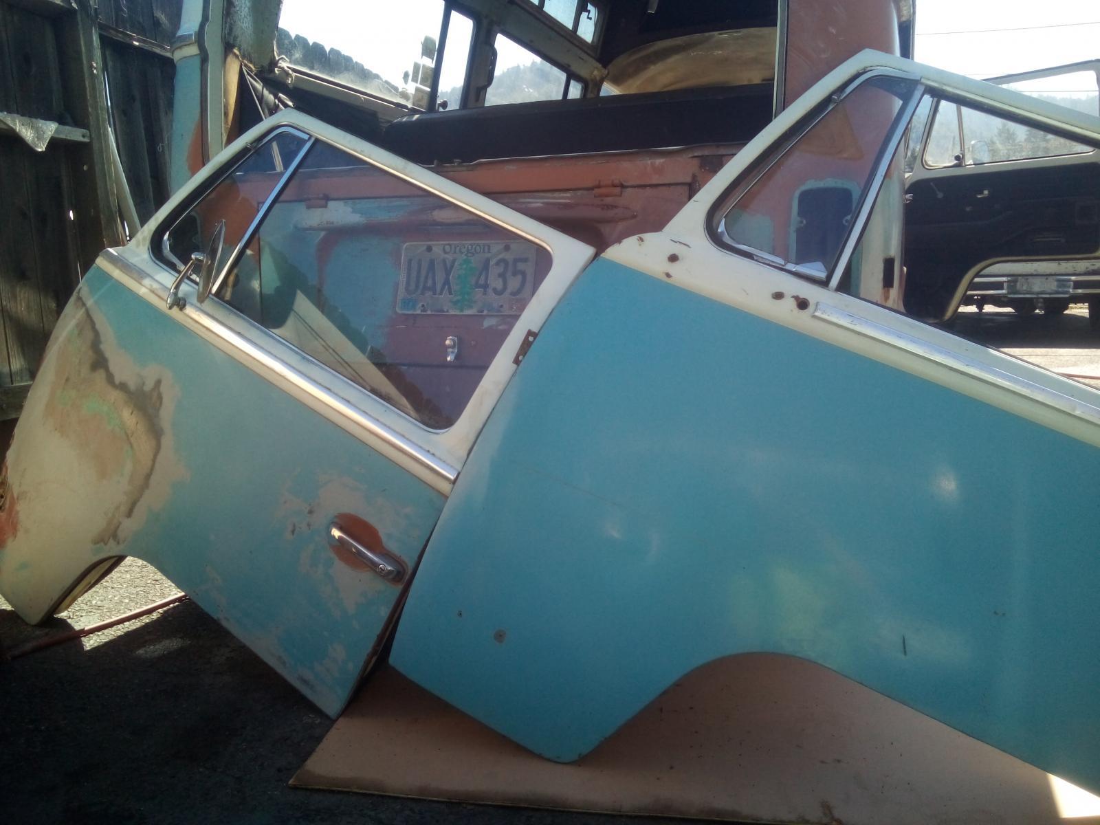Niagra blue driver door for 72 hightop