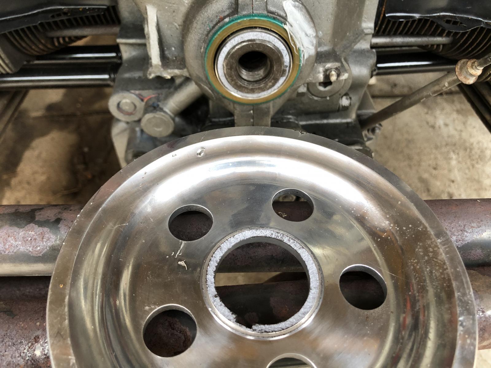 Broken Crank Pulley Flange