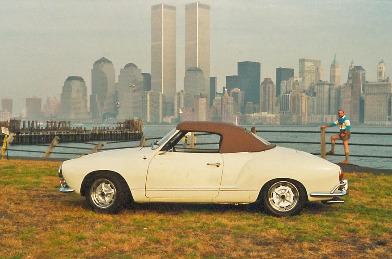 1964 Karmann Ghia Cabriolet at Liberty State Park, New Jersey Oct. 1991