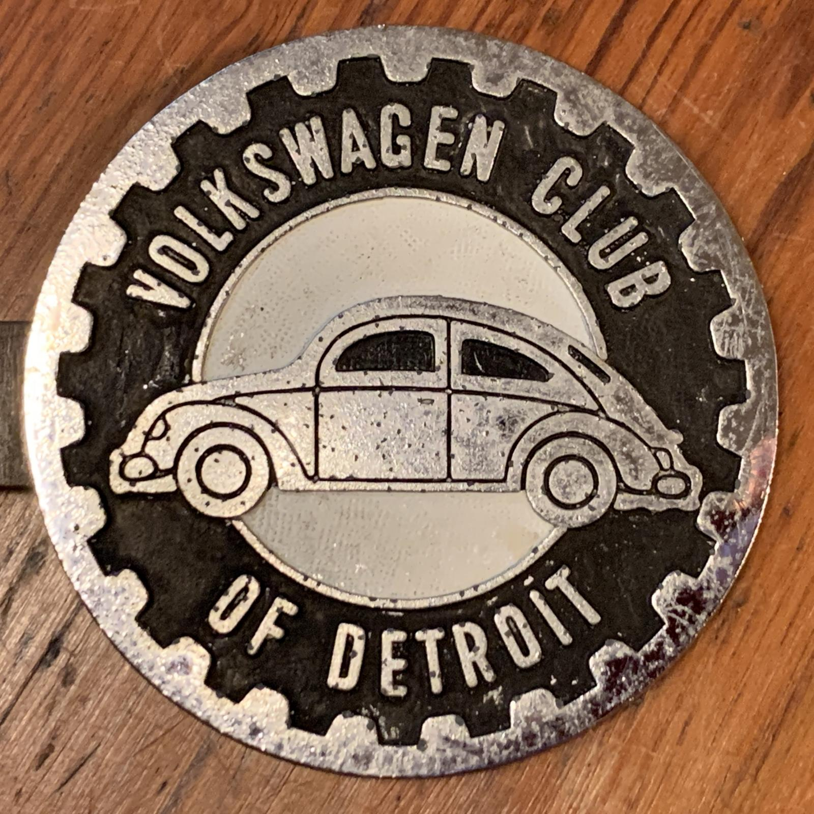 Volkswagen Club of Detroit Badge Black and White