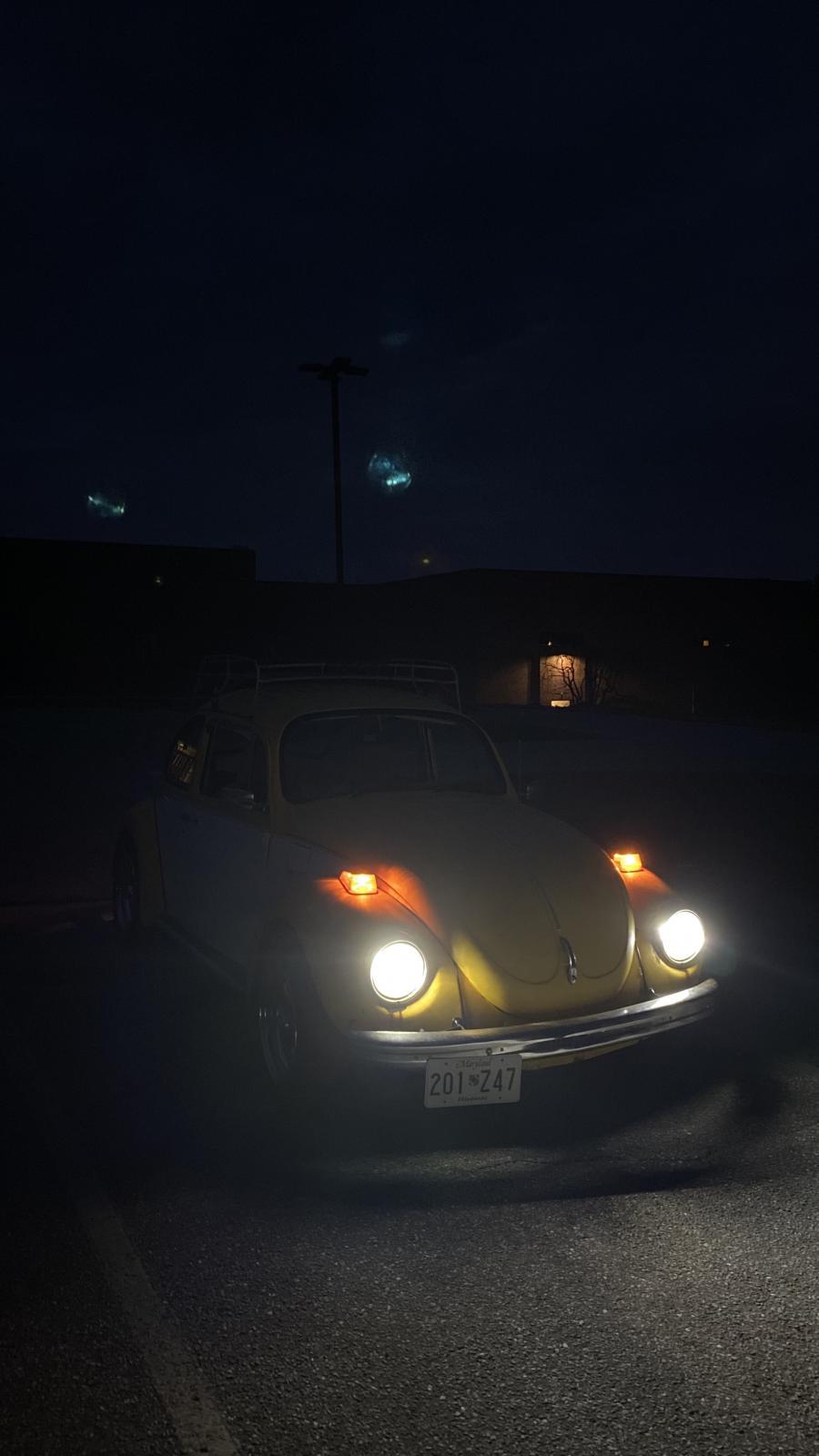 New Vintage Car LEDs installed turned on