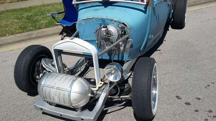 Rat rod truck with VW engine