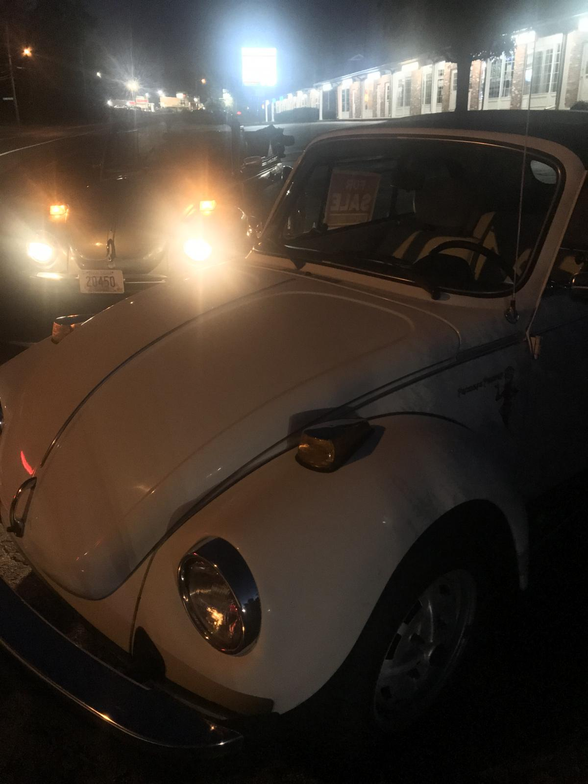 White 1978 Convertible Beetle