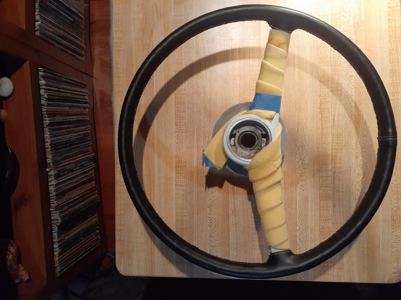 Covered steering wheel