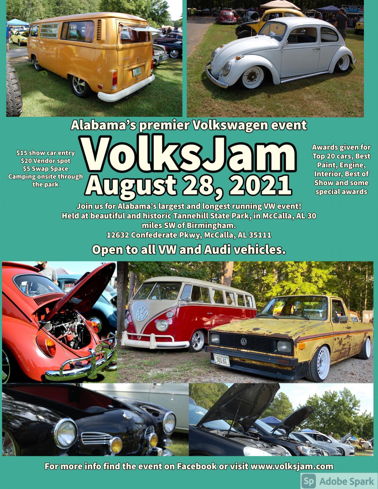 Show flyer for VolksJam 2021