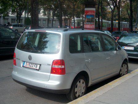 vw TDI minivan in vienna