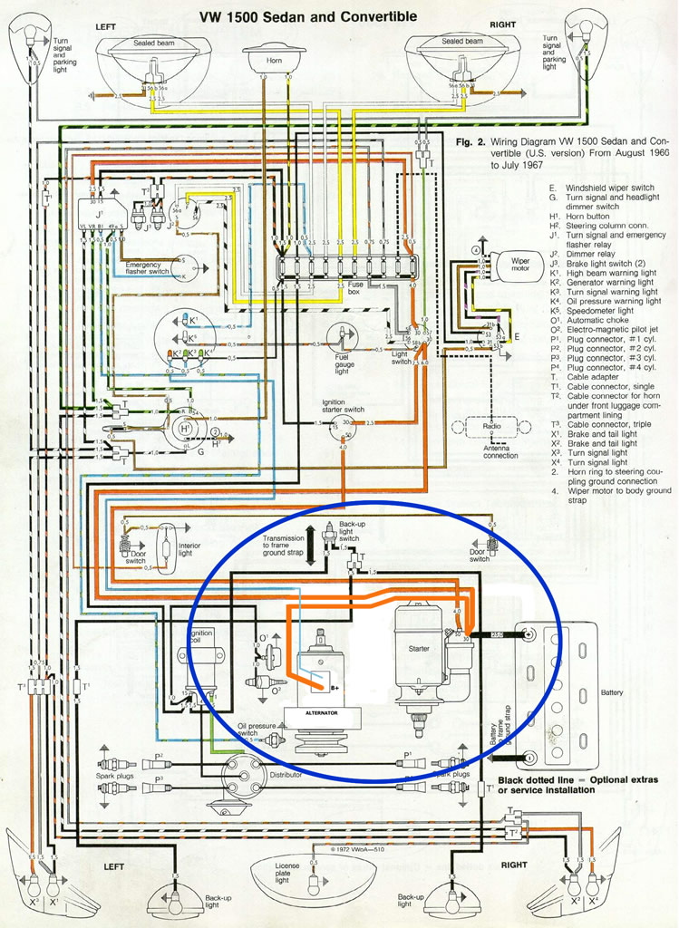250002 thesamba com performance engines transmissions view topic VW Beetle Voltage Regulator Wiring Diagram at reclaimingppi.co