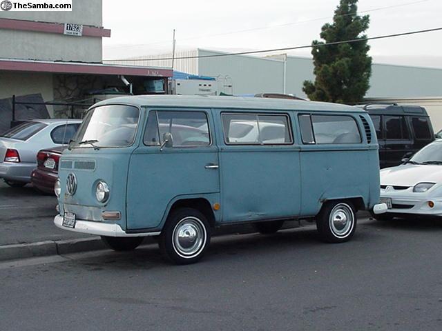69 Blue/white bus