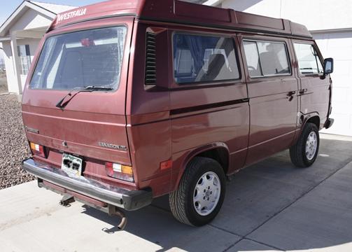 Rear of Van