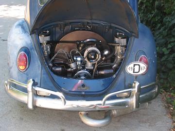 Stolen '67 Blue Bug w/copper hammer tone engine