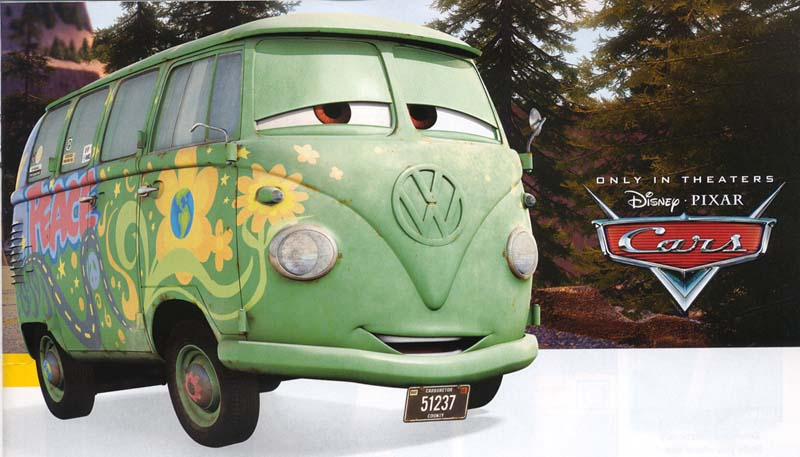 "Pixar Movie ""Cars"" has a bus !"