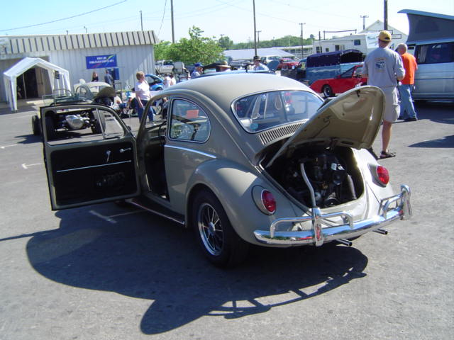 Rear view of 66 bug