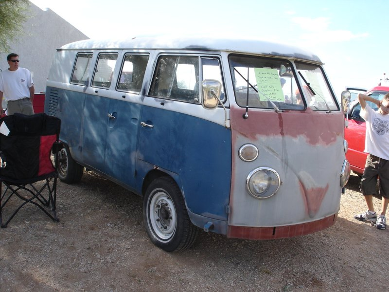 '67 Bus for sale at the show
