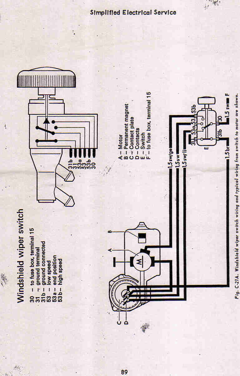 329887 thesamba com beetle 1958 1967 view topic 67 vw wiper Chevy Windshield Wiper Motor Wiring Diagram at bayanpartner.co