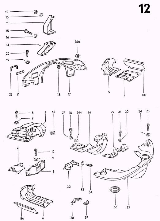 vw beetle engine tin diagram