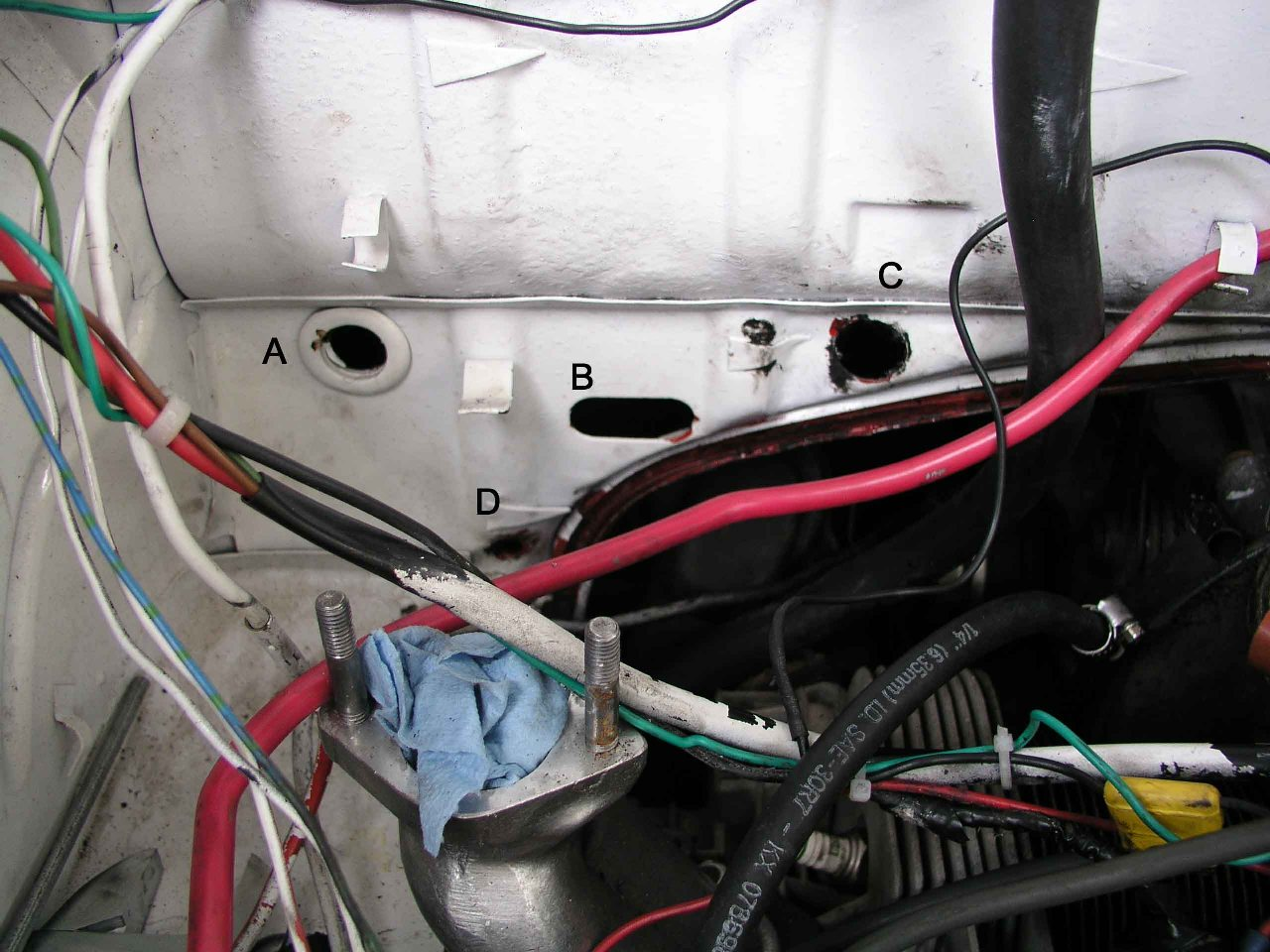 Ghia View Topic Which Firewall Hole Is For The Wire Harness Grommet Image May Have Been Reduced In Size Click To Fullscreen