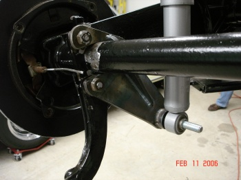 356 Disc E-brake LR with Cam's bracket